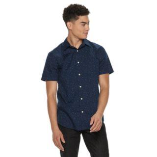 Men's Urban Pipeline® Navy Print Button-Down Shirt