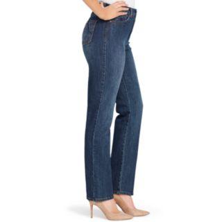 Petite Gloria Vanderbilt Amanda Embellished High-Waisted Jeans