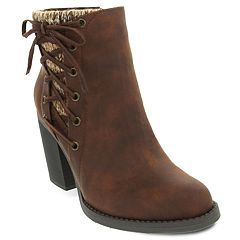sugar Puckered Women's High Heel Ankle Boots