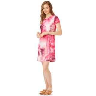 Juniors' Wallflower Tie-Dye T-Shirt Dress
