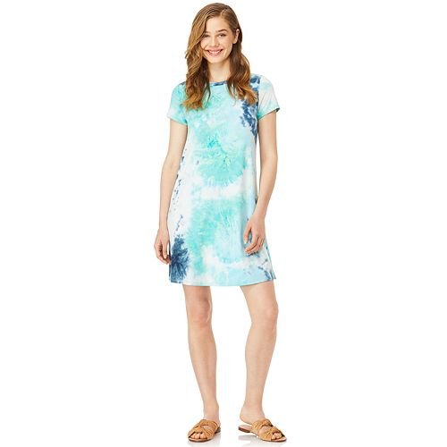 82eb398f1bd Juniors  WallFlower Tie-Dye T-Shirt Dress