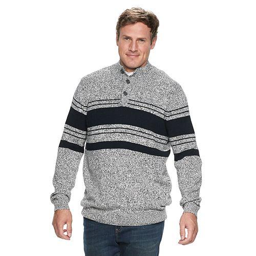 Big & Tall Croft & Barrow® Classic-Fit Birdseye 7gg Crewneck Sweater