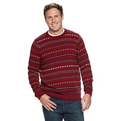 Big & Tall Croft & Barrow® Classic-Fit Fairisle 7gg Crewneck Sweater