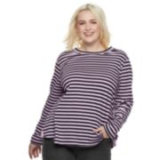 Plus Size POPSUGAR Print Long-Sleeve Tee