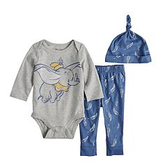 Disney's Dumbo Baby Boy Graphic Bodysuit, Pants & Hat Set by Jumping Beans®