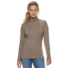 Petite Apt. 9® Ribbed Turtleneck Top