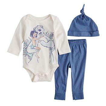 Disney S The Jungle Book Baby Boy Graphic Bodysuit Pants Hat Set