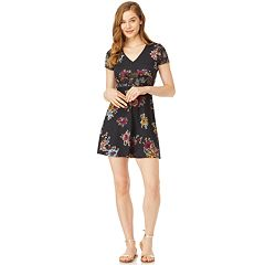 Juniors' Wallflower Floral Skater Dress