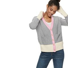 Women's POPSUGAR Colorblock Cardigan Sweater