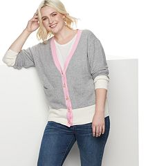 Plus Size POPSUGAR Colorblock Cardigan Sweater
