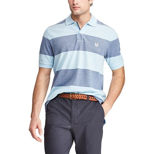 Men's Chaps Classic-Fit Rugby-Striped Polo