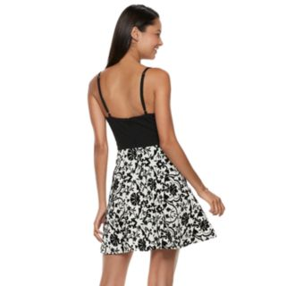 Juniors' Speechless Floral Skater Dress