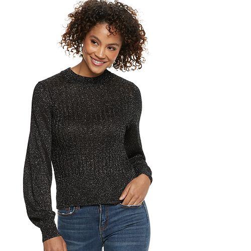 Women's POPSUGAR Lurex Mockneck Sweater