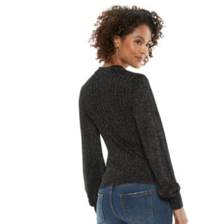 Women's POPSUGAR Lurex Mockneck Sweater
