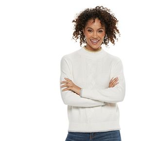 Women's POPSUGAR Cable-Knit Sweater