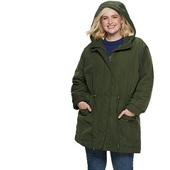 Plus Size POPSUGAR Sherpa-Hood Drawstring Parka