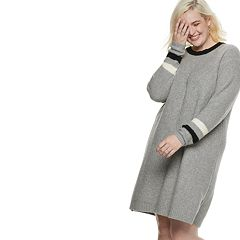 Plus Size POPSUGAR Striped Sweater Dress