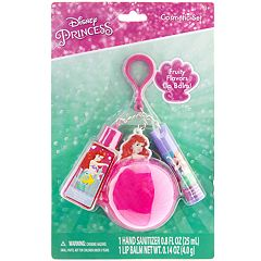 Disney Princess Girls 4-16 The Little Mermaid Ariel Lip Balm & Hand Sanitizer Keychain Set