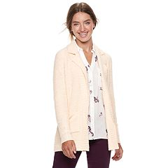 Juniors' Candie's® Notch Collar Coat Cardigan