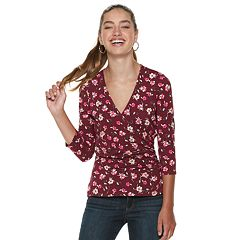 Juniors' Candie's® Wrap Front Top