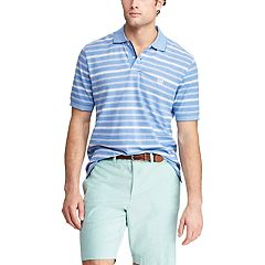 Chaps Men's Classic-Fit Striped Cotton Mesh Polo