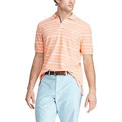 Chaps Men's Classic-Fit Striped Cotton Mesh Polo