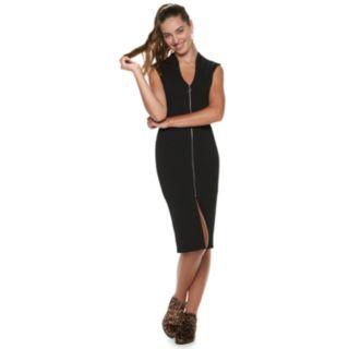Juniors' Almost Famous Zip Front Dress