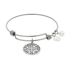 love this life Cross Bangle Bracelet