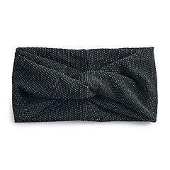 SO® Pin-Dot Twist-Front Stretch Headband