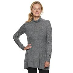 Women's Apt. 9® Mixed-Stitch Turtleneck Tunic