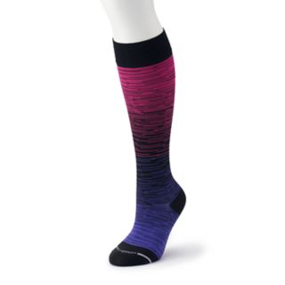 Women's Dr. Motion Ombre Striped Knee-High Sport Compression Socks