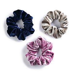 SO® Metallic Velvet Scrunchie Hair Tie Set
