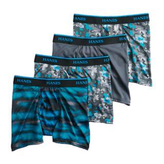 Boys 4-20 Hanes X-Temp 3-Pack + 1 Boxer Briefs