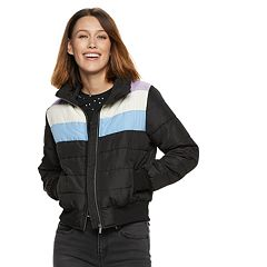 Women's POPSUGAR Striped Puffer Jacket