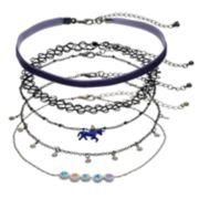 """Dream"" & Unicorn Choker Necklace Set"