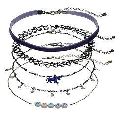 'Dream' & Unicorn Choker Necklace Set