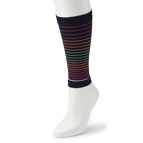 Women's Dr. Motion Striped Sport Compression Calf Sleeve