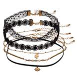 Lace, Cactus & Sun Choker Necklace Set