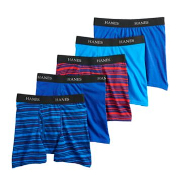 Boys 4-20 Hanes Ultimate Striped 4-Pack + 1 Boxer Briefs