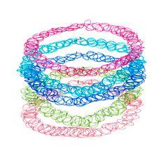 Tattoo Choker Necklace Set