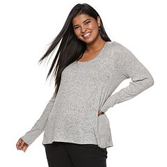 Juniors' Plus Size SO® Long Sleeve Tunic