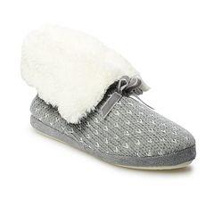 Women's LC Lauren Conrad Cozy Faux Fur Birdseye Bootie Slippers