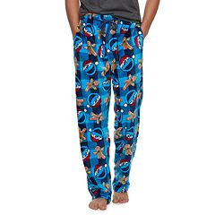Men's Dr. Seuss Grinch Santa Buffalo Plaid Lounge Pants
