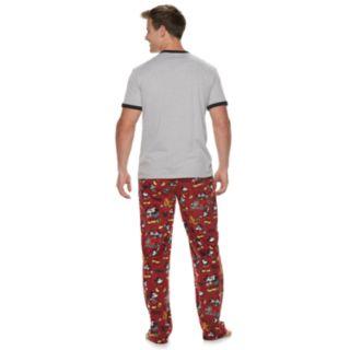 Men's Disney's Mickey Mouse Evolution of Mickey Tee & Lounge Pants Set
