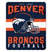 Denver Broncos Clear Stadium Tote & Throw Blanket Set