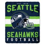 Seattle Seahawks Clear Stadium Tote & Throw Blanket Set