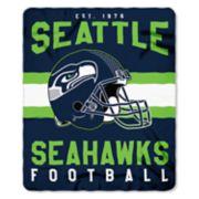 Seattle Seahawks Clear Stadium Tote & Throw Blanket Set