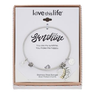 "love this life ""You are my Sunshine"" Bangle Bracelet"