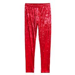Girls 7-16 SO® Velvet Capri Leggings