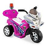 Kid Motorz Lil Patrol Pink & White Ride-On Vehicle